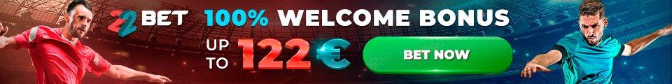 22bet Football banner